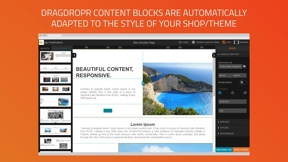Drag Dropr content creator