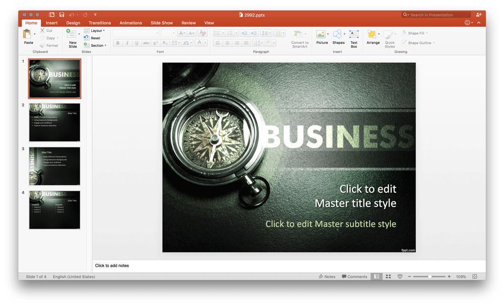 business-poweproint-template