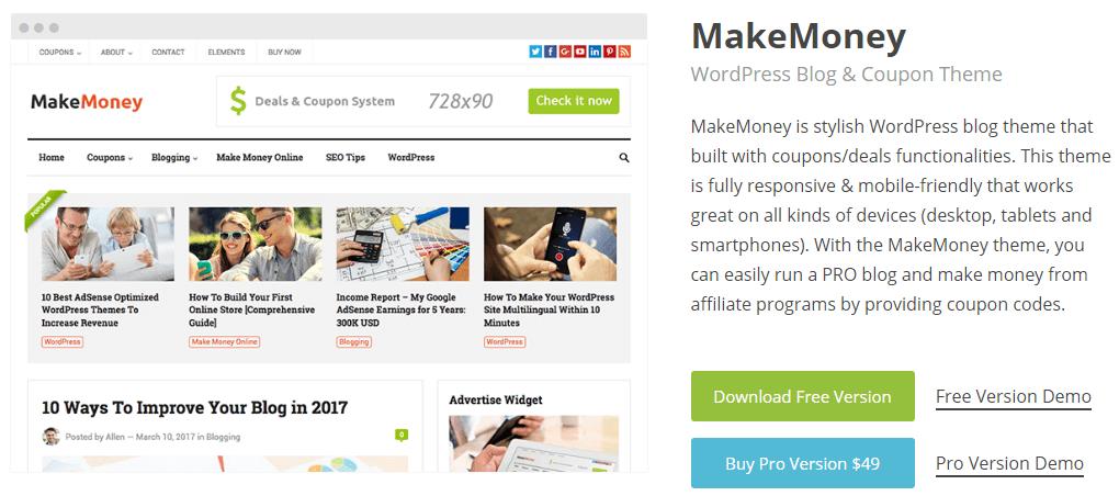 Make Money Pro WordPress theme