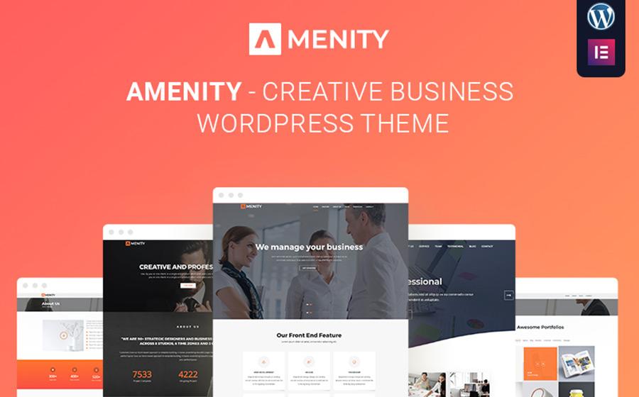 Amenity – Business One Page WordPress Theme