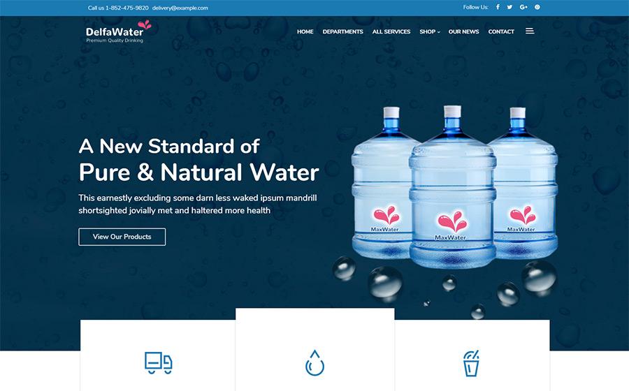 Delfa – Water Delivery WordPress Theme