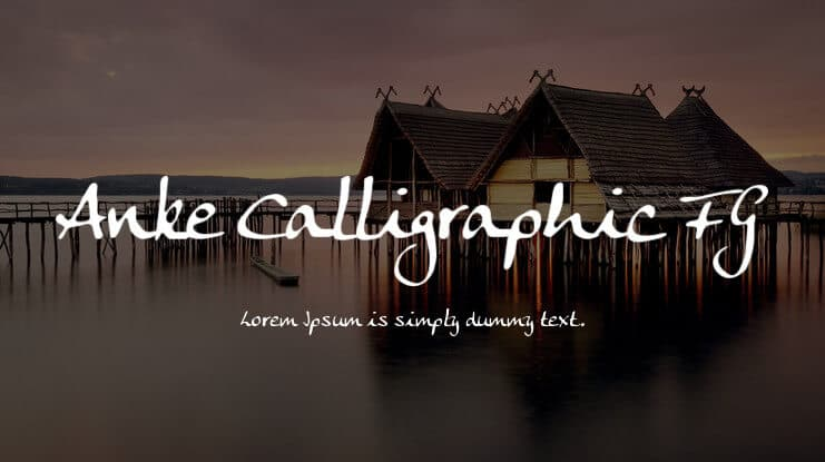 Anke Calligraphic FG Font
