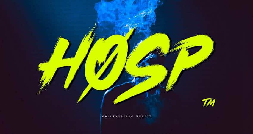 Hosp Free Graffiti Font