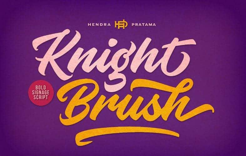 Knight Brush Graffiti Font