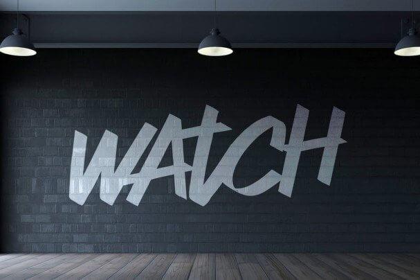 watch script font